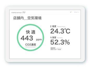 二酸化炭素濃度可視化